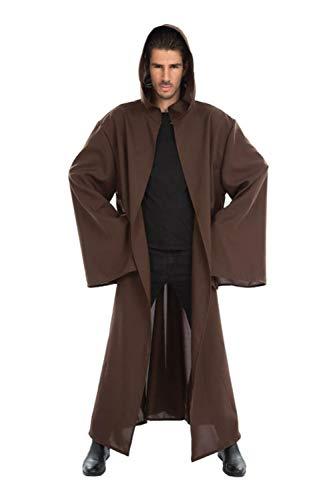 Cape à capuche chevalier Jedi -Marron-