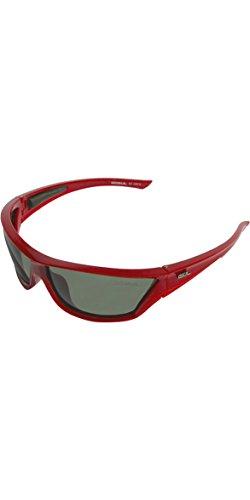 GUL CZ React Gafas de Sol flotantes para Practicar Deportes acuáticos en la Playa Navegación o Surf Gafas de Sol Rojo Negro - 75 mm Ancho de la Lente