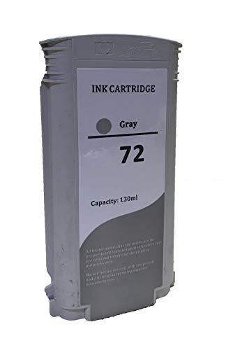KLDink 130ML Tintenpatrone Kompatibel für HP 72 / C9374A High-Yield (1-PK Gray)