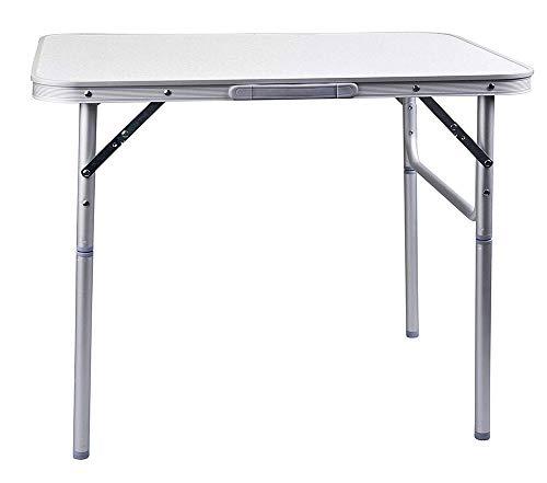 Vetrineinrete Tavolo per Picnic 90x60x70 cm in Alluminio per Giardino Campeggio Camper con Piedi Removibili Manico per Il Trasporto P19