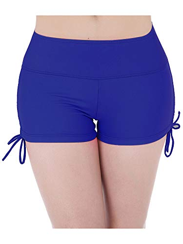 Hestya Women's Swim Shorts Solid Swimsuit Bottoms Quick Dry Swim Board Shorts with Adjustable Ties, S - XXXL (L, Royal Blue)