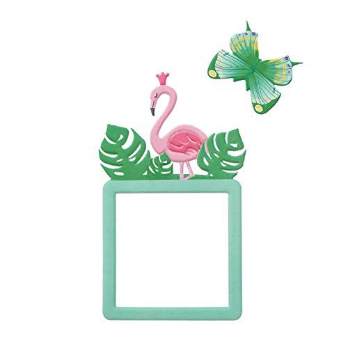 LNSTORE Dibujos Animados Lindo 3D Cactus Fluorescente Muro de Silicona Etiqueta Etiqueta Etiqueta Etiqueta de Switch Luminoso Decoración del hogar Bonita decoración de interruptores