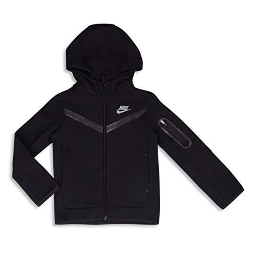 Nike NSW Tech Fleece FZ Hoodie Kinder Black 4-5Y