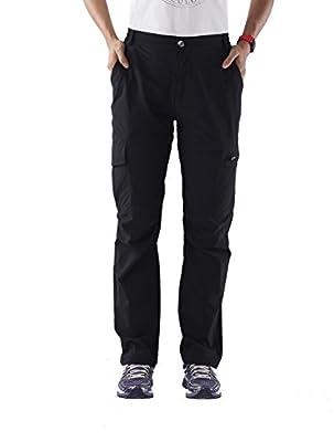 Nonwe Women's Outdoor Water-Resistant Cargo Pants Black L/29 Inseam