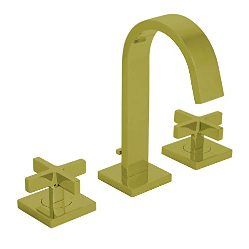 Speakman, Brushed Bronze CD521BBZ Lura 8' Widespread Bathroom Faucet with Cross Handles and Pop-Up Drain Assembly