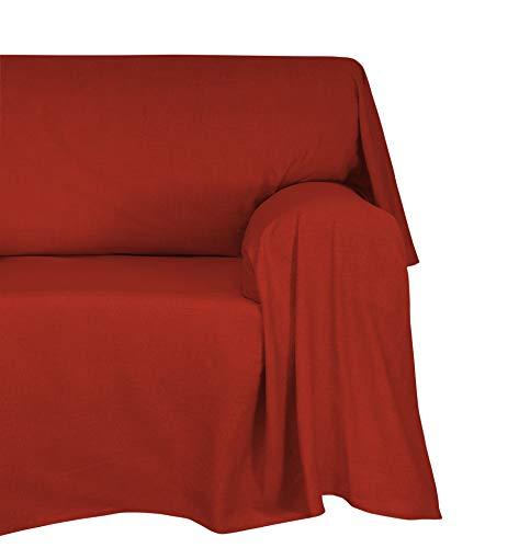 Cotton & Color Arredo Foular Copritutto, Cotone, Bordeaux, 180x270x1 cm