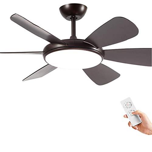 BAIJJ propeller plafondventilator kroonluchter met 5 messen, uitgerust met LED-lichtbron kan de 3-speed Silent-motor draagbare afstandsbediening, geschikt om te vegen