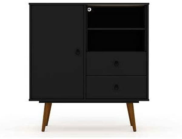 Manhattan Comfort 43 In Mid Century Modern Dresser In Black