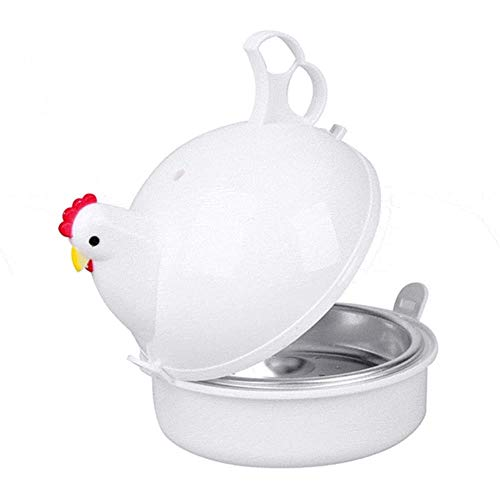 CDFD 4 Eierkoker Eieren Steamer Kip-vormige magnetron Fornuis Keuken Huishoudelijke kooktoestellen Steamer Home Tool