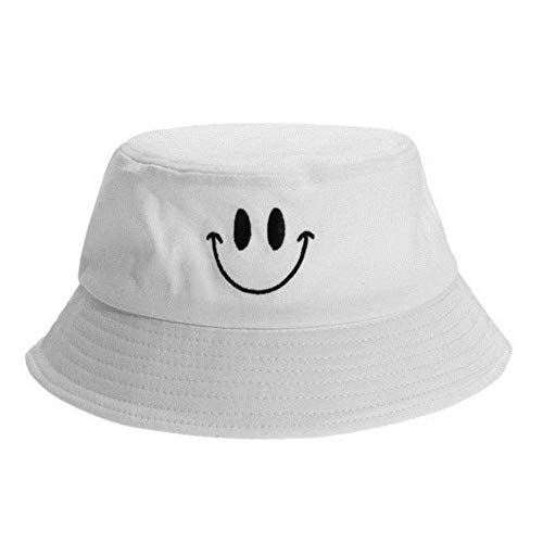 WKH Sombrero de Pescador Informal Caza Pesca Sombrero de Cubo Gorra Sonrisa...