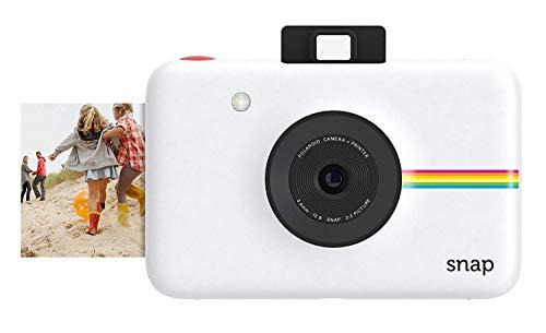 Polaroid Snap - Cámara digital instantánea, tecnología de impresión Zink Zero Ink, 10 Mp, Bluetooth, micro SD, fotos de 5 x 7.6 cm, blanco