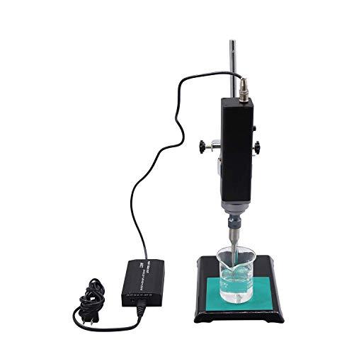 CGOLDENWALL 150W-500W Homogeneizador Ultrasónico Portátil de Mano con Φ3mm - Φ8mm Sonda Ideal para Dispersión de Célula, Emulsión, Dispersión de Células (150W, 100ul~100ml, con Soporte)