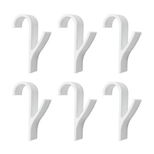 4 unids baño de gancho soporte ropa de ropa toalla calentada radiador almacenamiento rack baño gancho familia robo colgando ganchos sombreros bolsa de pared colgador de pared (Color : 6 pcs)
