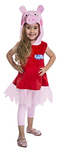 PALAMON Peppa Pig Deluxe Toddler Costume Dress, 3-4T