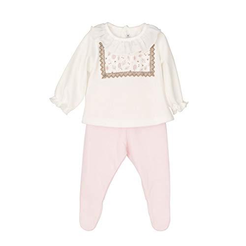 CALAMARO - Conjunto Polaina bebé bebé-niños Color: Rosa Talla: 6M
