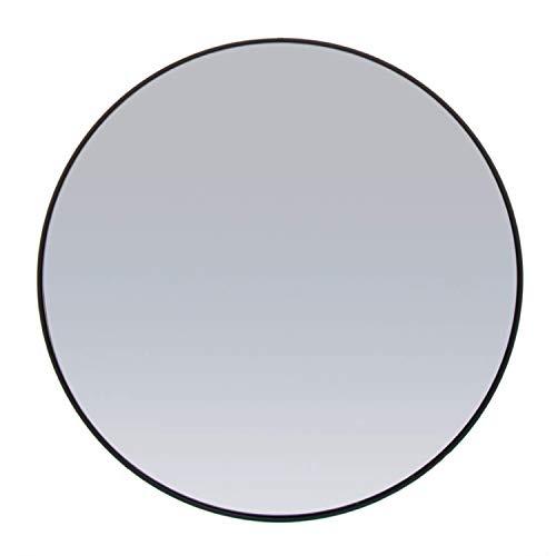 Vidal Regalos Espejo de Pared Redondo Negro 90 cm