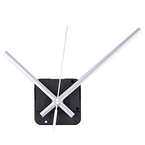 Mudder Lange Spindel Quarz Uhrwerk, Maximale Zifferblatte von 1/2Zolldick,Gesamtschaftlänge von 9/10 Zoll (Silbern)