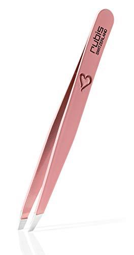 Rubis Classic Collection Wenkbrauwpincet met hartvormige gravure – pincet wenkbrauwen epileren – perfect cadeau voor vrouwen – roze