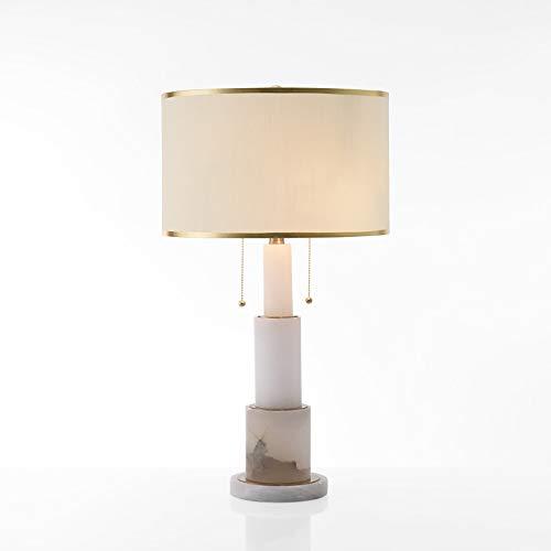 LTAYZ Lámpara Escritorio Lámpara American Country Sala de Estar Habitación Bedides Hotel Lámpara de Mesa Moderna Personalidad Simple Lámpara de Mesa de mármol Creativa 42 * 80cm