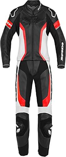 Spidi Laser Touring 2-Teiler Damen Motorrad Lederkombi Schwarz/Rot/Weiß 46