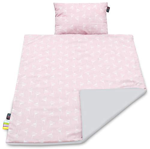 Baby Blanket Set Baby Pillow Blanket Newborn Essentials Cot Bed Duvet Pillow Set Baby Newborn Toddler Quilt Pillow Cute Baby Bedding Boy Girl Unisex Soft Handmade Minky Cotton Blanket Pillow Sets