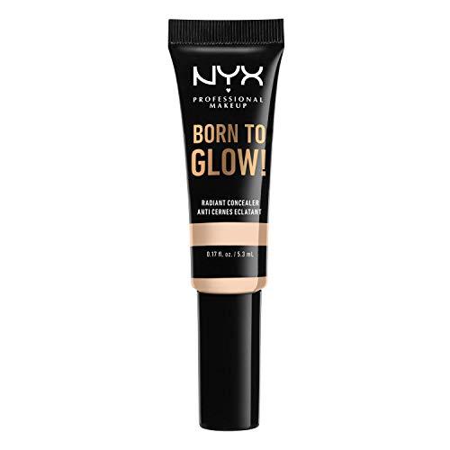 NYX Professional Makeup Born to Glow Radiant Concealer, Schimmerndes Finish, Reduzierung von Augenringen, Highlighten und Contouring, Vegane Formel, Farbton: Fair