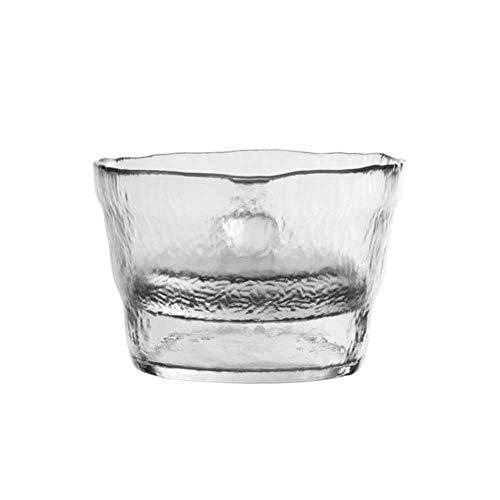 XCBW Kimchi-Glas aus transparentem Glas, Matte, strukturierte, gewellte Außenwand, passt auf die Handfläche, um das Ende zu erleichtern. Die Innenwand ist glatt und leicht zu reinigen