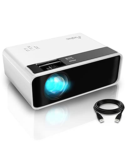 Elephas Mini Beamer 6500 Lux, Tragbar Heimkino Beamer Support 1080P Full HD mit 90000 Stunden, 200 Zoll Video Beamer Kompatibel mit TV Stick, PS4, PC, VGA, AV, USB, Smartphone