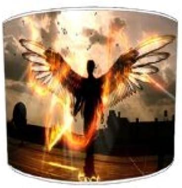 Premier Lampshades - Abat-Jour Le Tableau 30,5Cm De Diamètre Feuille Abstrait Fiery