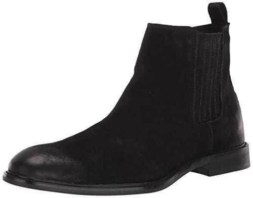 Steve Madden Men's APEXX Chelsea Boot, Black Nubuck, 10 M US
