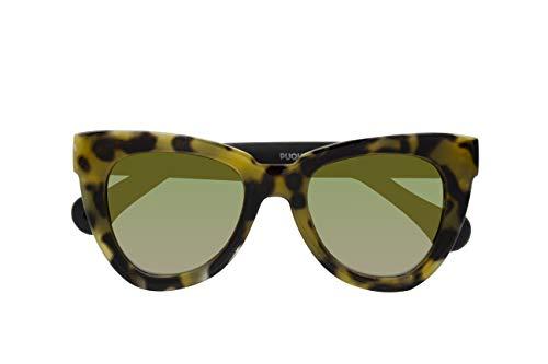 Parafina - Gafas de Sol Polarizadas para Hombre y Mujer - Gafas de Sol Ojos de gato Anti-reflejantes Tortoise - Lentes Verdes