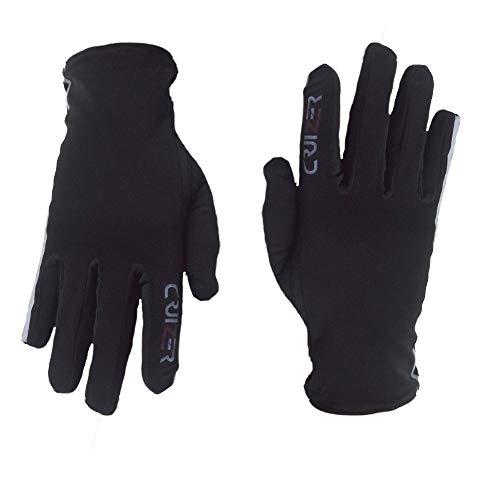 CRUIZER Handschuhe Unterhandschuhe für Motorrad Scooter Winter Stretch mit Innen Microfleece S Schwarz