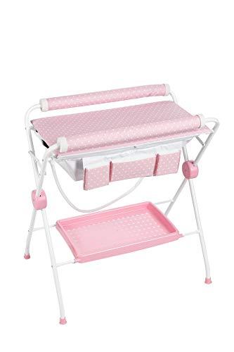 Plastimyr 5983340 - Bañera Flexible con Cambiador, color Rosa
