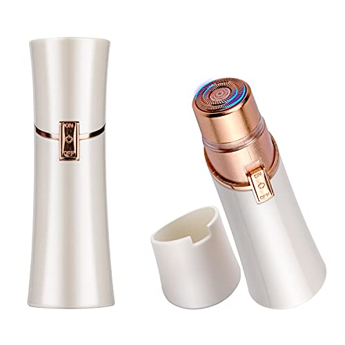Depiladora Facial - Chirisen Depiladoras Femeninas Electrica SIN dolor con LED Luz para Labio, Cara, Brazo, Piernas, Axila y Bikini, Blanco