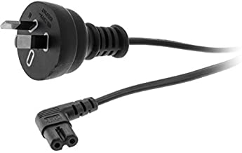 R720AC DOSS 240V Ac Mains to Figure 8-2M Iec C7 Fig8 Right Angle Black Fitted with a Right-Angle Iec C7 / Figure-8 Connect...