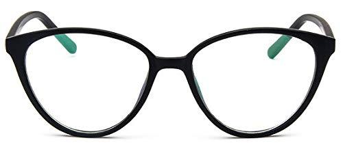 SNXIHES Sonnenbrillen Brillengestell Katzenauge Brillengestell Klare Linse Frauen Marke Brillen Optische Rahmen Myopie Nerd Schwarz Rot Brillengestell 3