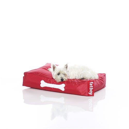 Fatboy® Doggielounge Small rot | Kleines Nylon-Hundekissen | Abwaschbares Hundebett für kleine Hunde | 60 x 80 x 15 cm
