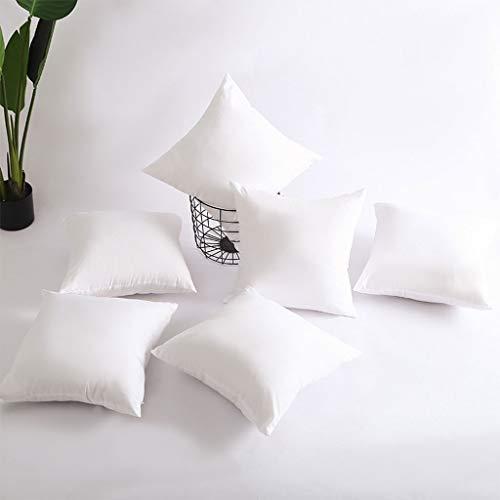 TALENT effen kussenkern, sofakussen van puur katoen (2 stuks), zacht kussen, luxe elastisch kussen, katoenen kussen