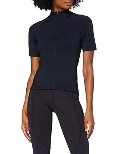 Amazon-Marke: AURIQUE Damen Sporttop mit hohem Kragen, Schwarz (Black), 38, Label:M