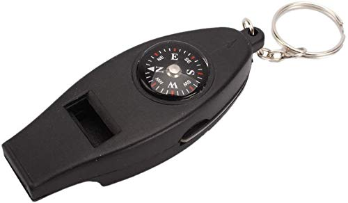 Dsnmm 4 in 1 Mini Pocket Thermometer Kompas Fluitje Vergrootglas/Vergrootglas Noodhulp Tool Kit Sleutelhanger