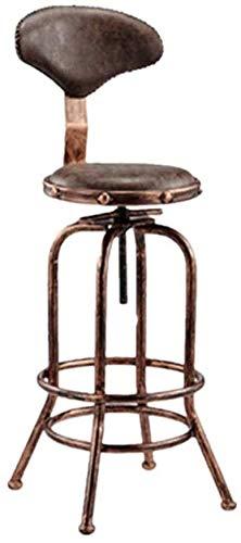 LJBXDCZ NJ barkruk barstoel smeedijzeren barkruk cafe keuken barber shop in hoogte verstelbare barkruk decoratieve rugleuning stoel hoge kruk 3.10