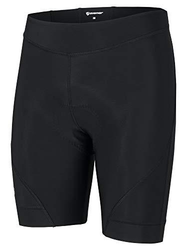 Ziener Damen NATOLIA X-Gel Fahrrad-Tight/Rad-Hose - Mountainbike/rennrad - Atmungsaktiv|schnelltrocknend|gepolstert, Black, 42