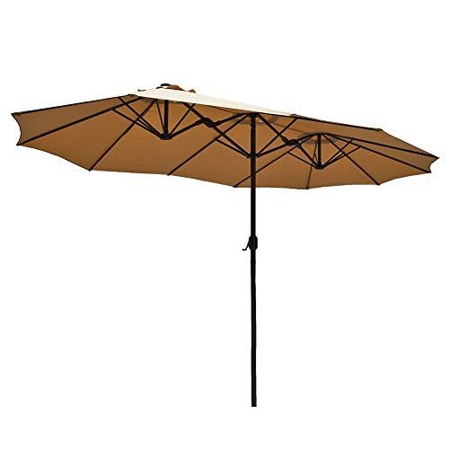 Parasol Sombrilla De Jardín 2.7x4.5m Sombrilla Doble Rectangular, Protección UV UPF50 +, Sombrilla con Manivela para Mercado Terraza Piscina De Playa