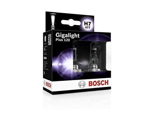 Lámpara Bosch para faros: Plus 120 Gigalight H7 12V 55W PX26d (Lámpara x2)