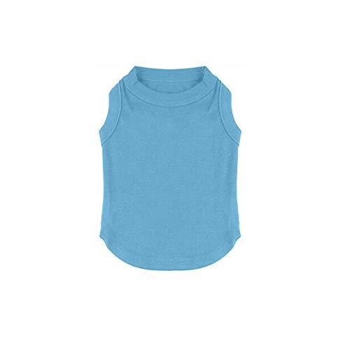 Ropa para Mascotas Camisas Ropa en Blanco Cómodo y Sencillo Color sólido Pequeño Mediano Grande Camisetas Inexpe