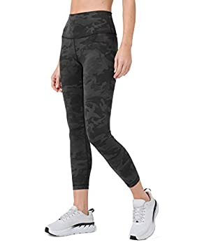 Lululemon Women's Wunder Under Stretchy Fitness Pants - High Rise Leggings Sweat-Wicking Fabric Firming Support 25 Inch Inseam Incognito Camo Multi Grey Size 6
