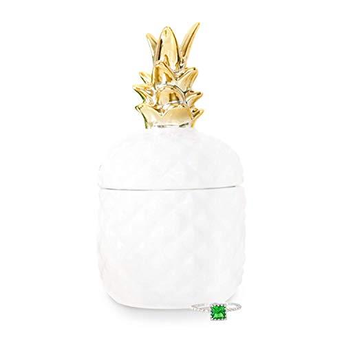 Royal Essence - Vela perfumada con aroma a piña en el interior, anillos, collares, pendientes, Ring Size 10