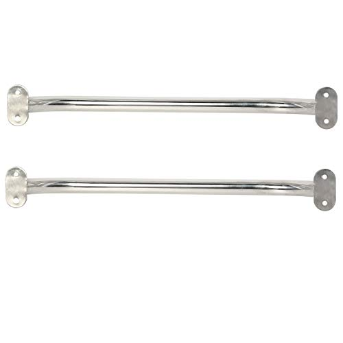 """NovelBee 2-Pack Stainless Steel Polish Boat Grab Handle Oval Handrail (Length:19.3"""")"""