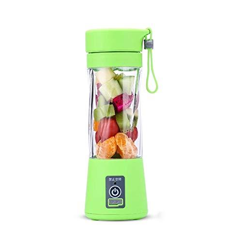 DKEE Extractor de zumos Mini Juicer Multifunción Portátil De Carga USB Juice Cup Fruit Electric Juice Mixing Cup (Color : Green)