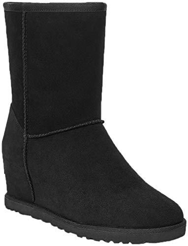 UGG Female Classic Femme Short Classic Boot, Black, 6 (UK)